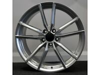 "18"" Pretoria (silver) Style Alloy Wheels and tyres Suit A3,VW MK5,6,7 Golf, Jetta, Passat, Seat"