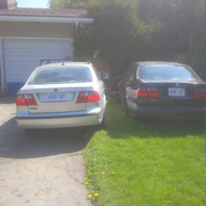 One Saab 95 for Driving, the Other for Parts