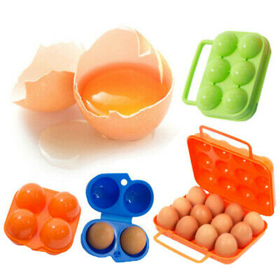Portable 4/6/12 Egg Container Holder Outdoor Camping Eggs Carriers Storage Box