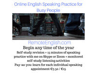 Au pairs - Let's get you speaking more English! 15 minutes of online English speaking practice