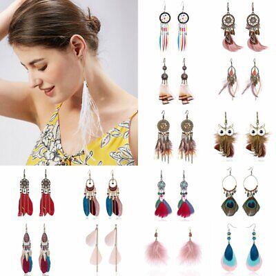 Fashion Women Charm Boho Vintage Dreamcatcher Drop Dangle Hook Earrings - Dreamcatcher Jewelry