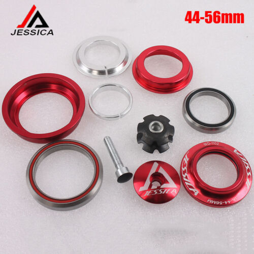 "JESSICA 1-1//8/"" Threadless 44-56mm Mountain Bike Sealed Bearings Bicycle Headset"