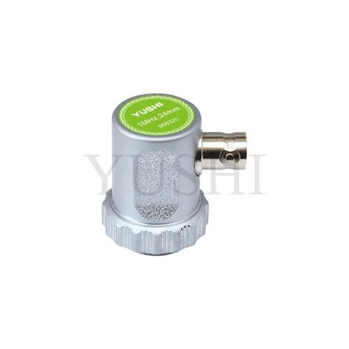 YUSHI Straight Beam Probe Single Crystal Transducer 1MHz Dia 24mm BNC Connector