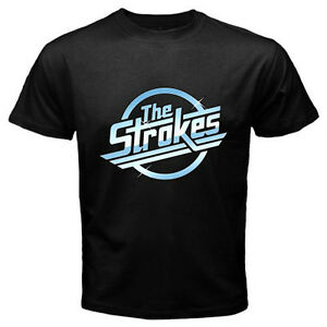 New-THE-STROKES-Metal-Punk-Rock-Band-Mens-Black-Tee-T-Shirt-Size-S-3XL