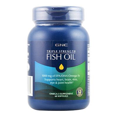 Gnc Triple Strenth Fish Oil 1000 Mg Of Epa Dha Omega 3 60 Softgels