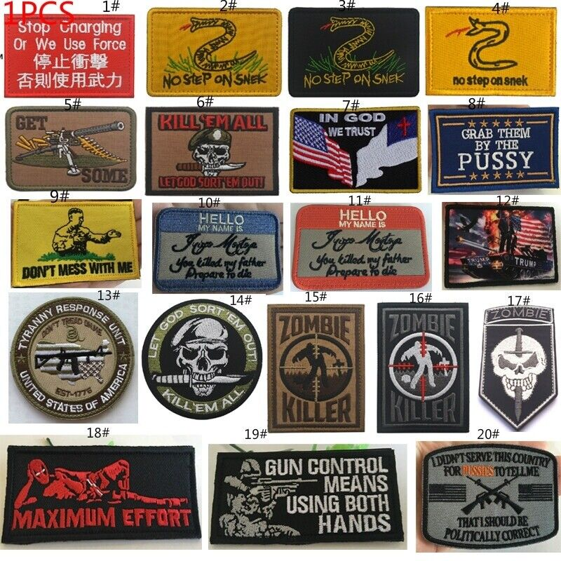 1PCS Embroidery Hook patches Army Military patch Tactical Badge armbands Crafts