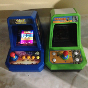 Frogger, Space Invaders tabletop games by Excalibur , Vintage