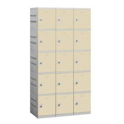 Salsbury Plastic Locker Five Tier 3 Wide 73 High 18 Deep Tan 95368tn-u New
