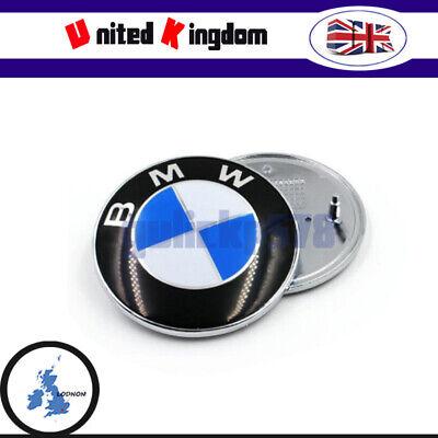 1x 82MM Badge Emblem For BMW E30 36 46 70 90 92 93 Boot/Bonnet/Trunk/Hood Decal