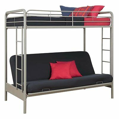 DHP Twin-Over-Futon Metal Bunk Bed, Multiple Colors