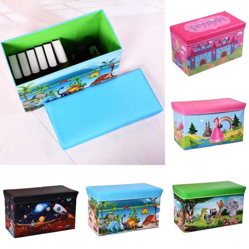 Sitzhocker Aufbewahrungsbox Box Truhe Kiste Sitzwürfel faltbar Kinderzimmer Kind