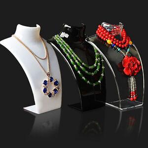 Acrilico-Mannequin-Peto-Joyeria-Colgante-Collar-Cuello-Modelo-Soporte-Expositor
