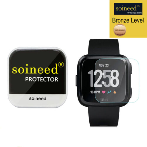 SOINEED Tempered Glass Screen Protector Film For Fitbit Versa Watch