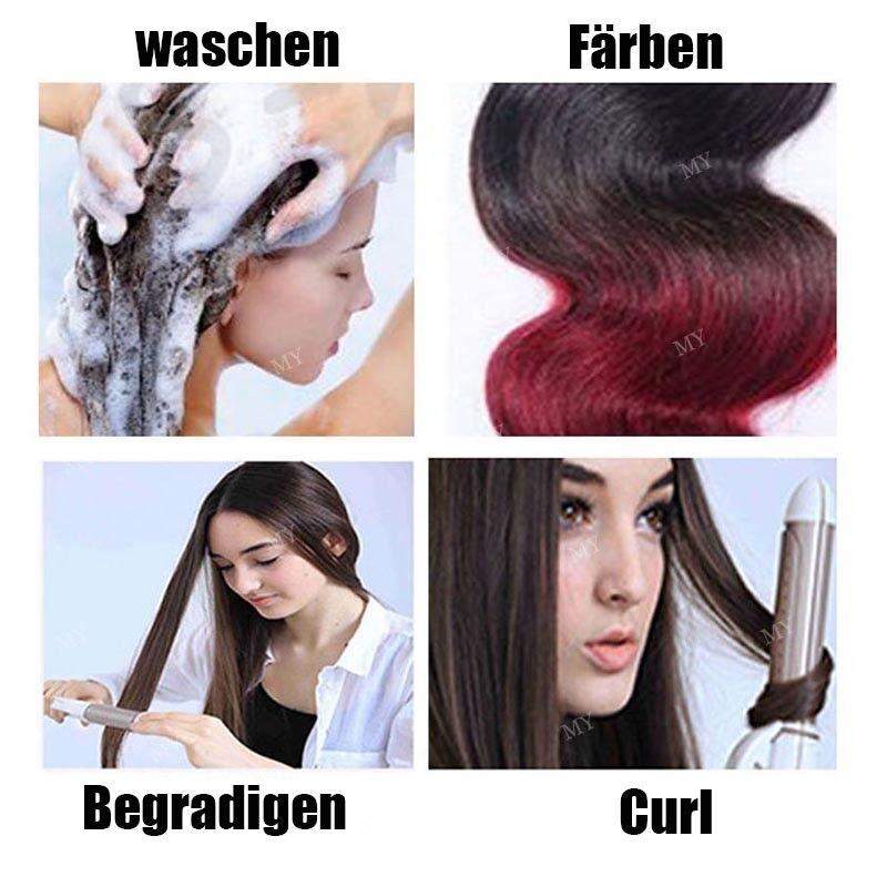 50CM 60CM Echthaar Clip In Extensions Remy Haar Haarverlängerung 8 teilig Set DE