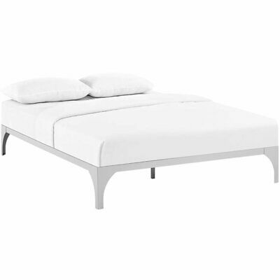 Modway Ollie Queen Bed Frame in Silver
