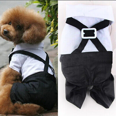 Dog Wedding Outfits (Gentleman Dog Puppy Formal Suit Prince Apparel Wedding Bowtie Outfit Costume)
