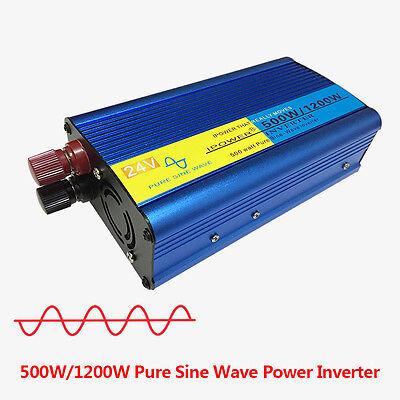 Car 500W converter pure sine wave power inverter DC 24v to AC 240v  invertor Car
