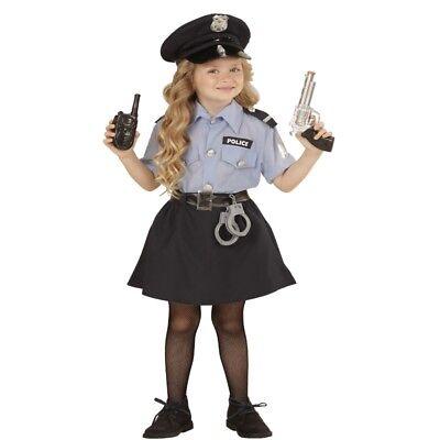 POLIZEI MÄDCHEN Police Girl Kinder Kostüm - Größe 116 - Polizistin Cop - Cop Kind Kostüm Mädchen