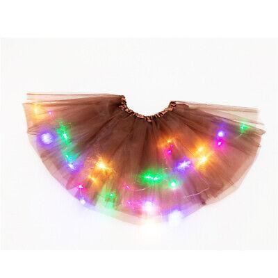Leuchtend LED Kind Mädchen Tüll Tutu Rock Party Kostüm Ballett Tanz Tragen (Tanzen Tragen Tanz Kostüm)