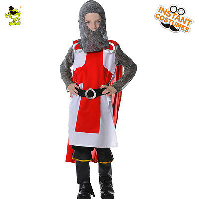 Kings Costume For Kids ( Warrior Knight Costumes Halloween Carnival Masquerade Prince King Suit for)