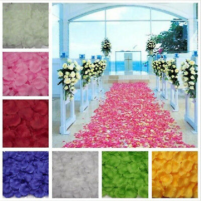 1000Pcs Flower Rose Petals Floral Confetti Decor Wedding Party Table Decoration  - Table Confetti