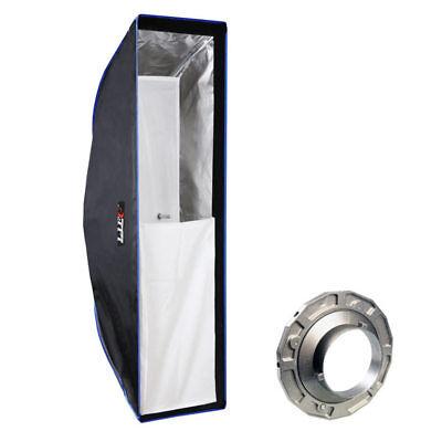 LIFE of PHOTO Easy Setup Striplight-Softbox 25x90 cm für BOWENS & METTLE Blitz  Strip Light Softbox