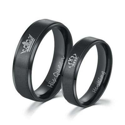 1Pc His Queen And Her King Titanium Steel Rings Lovers Couple Ring Accessories](King Accessories)
