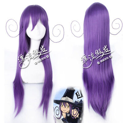 Soul Eater Black cat Blair Purple Cosplay Anime party Hair Wig heat resistant