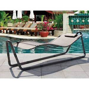 OUTDOOR PATIO HAMMOCK SUN BED LOUNGE CHAIR WITH STAND VISION Dingley Village Kingston Area Preview