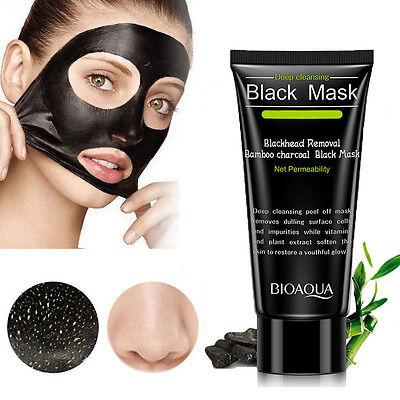 Damen schwarz Abziehen Maske Mitesserentferner Gesichts- reinigend Holzkohle