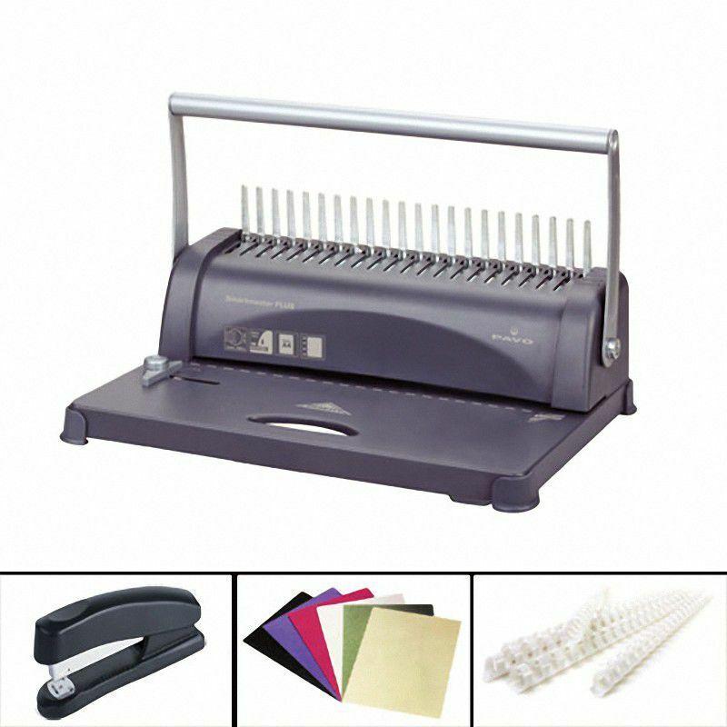 Bindemaschine Bindegerät SMARTMASTER PLUS bis 450 Blatt inkl. 76 tlg. Starterset