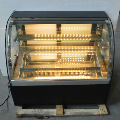 Refrigerate Cake Showcase Curved Pie Display Cabinet Cooler Bakery Display 220v