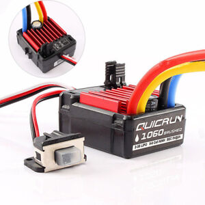 UK Electronic Speed Controller For RC 1/10 Car Waterproof Brushed ESC 1060 60A