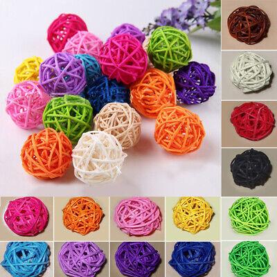 20X Rattan Ball Wedding Party Ornament Crafts Dried Ball Festival Xmas Decor 3cm ()