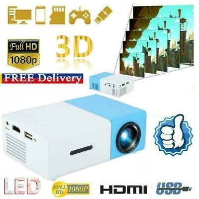 Mini Portable Pocket Projector HD 1080P Movie Video Home Theater HDMI AV SD USB