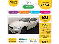 White BMW 430d m Sport Diesel Auto Coupe FROM £139 PER WEEK!