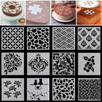 Wedding Baking (Pattern Cake Stencil Cookie Fondant Baking Sugarcraft Tool Wedding Decor)