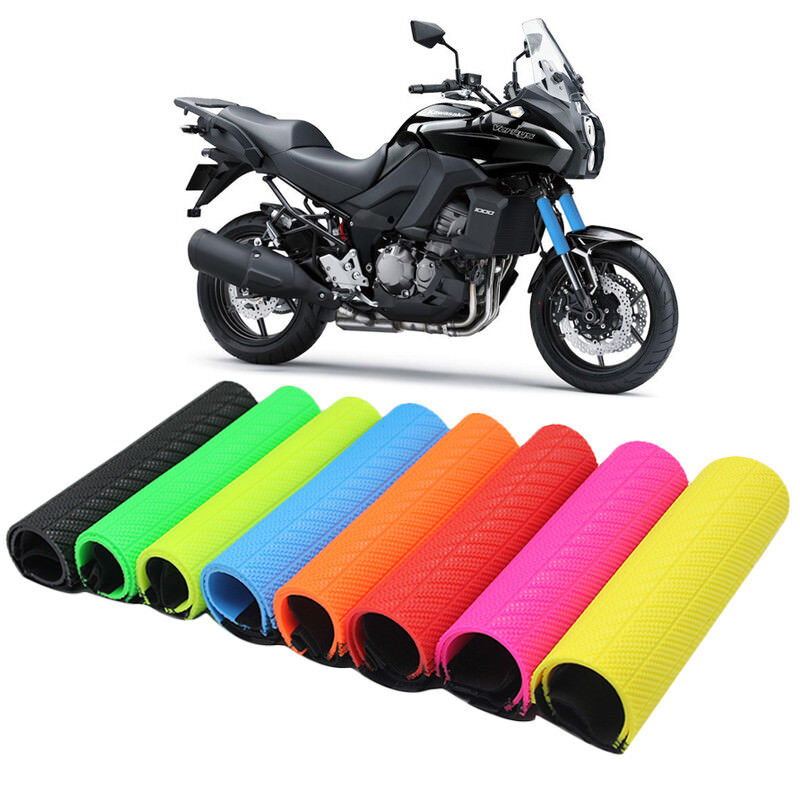 Motorcycle Front Rubber Fork Dirt Cover Gaiter Gator Boot Cap Shock Absorber