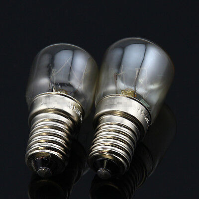 (2x E14 T22 T25 15W 25W Heat Resistant 300'C Toaster Steamer Oven Bulb 110V 120V)