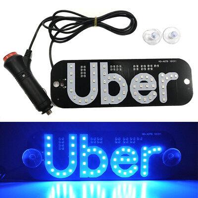 Car Parts - For Led Uber Sign Lyft Acrylic Car Rideshare Light Inside Window Windshield