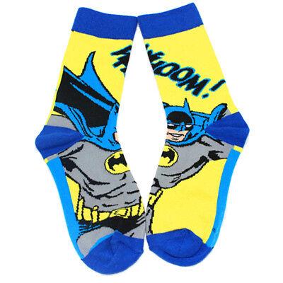 Batman Socks (Hot Sale Super Hero Yellow Batman Hight Quality Men's Warm Winter Socks Long)