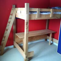 Custom Made BUNK BED with folding desk