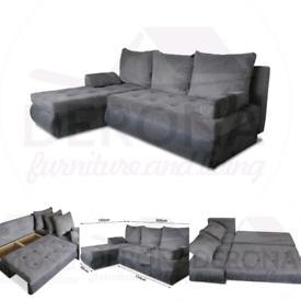 Brand new Corner Sofa Bed with bedding storage