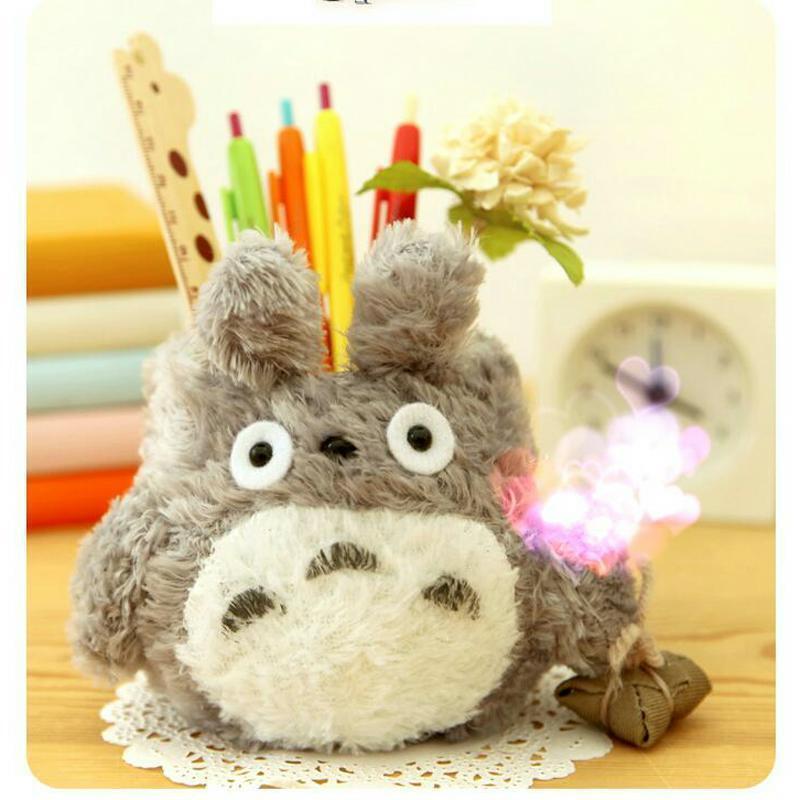 Cute Pen Holder Kawaii Pencil Organizer Home Desk Decoration Plush