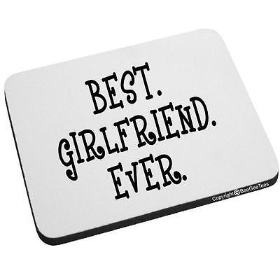 Beegeetees Best Girlfriend Ever Mouse Pad Valentines Day Birthday Gift