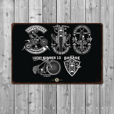 Metal Tin Sign motorcycle garage Decor Bar Pub Home Vintage Retro Poster