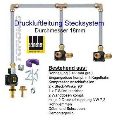 Druckluftleitung Starter Profi-Set für 1000ltr Druckluft, Rohr-D = 18 mm schwarz