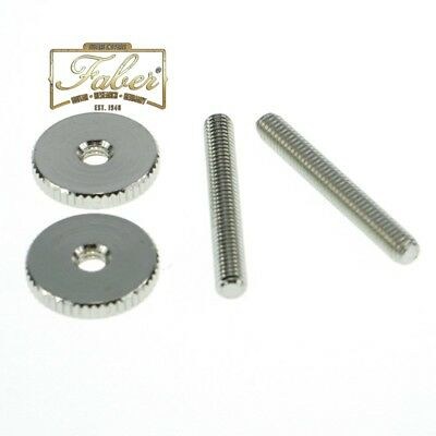Faber TPST-ING TP-ST-I-NG 59 Gibson Style Tailpiece Studs Nickel Gloss 3095