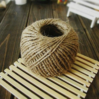 Hot 30M Natural Brown Jute Hessian Burlap Twine Sisal Rustic String Cord 9S