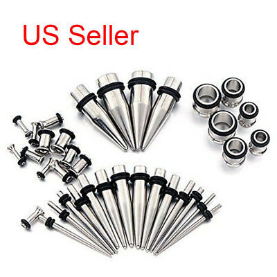 00G-14G Stretching Taper and Tunnel Starter Kit Stainless